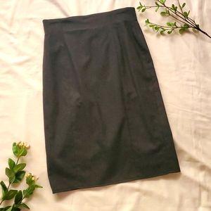 Anne Klein charcoal wool pencil skirt sz 10 [876]